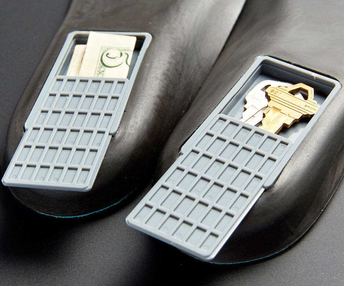 Secret Storage Compartment Insoles - http://coolthings.us