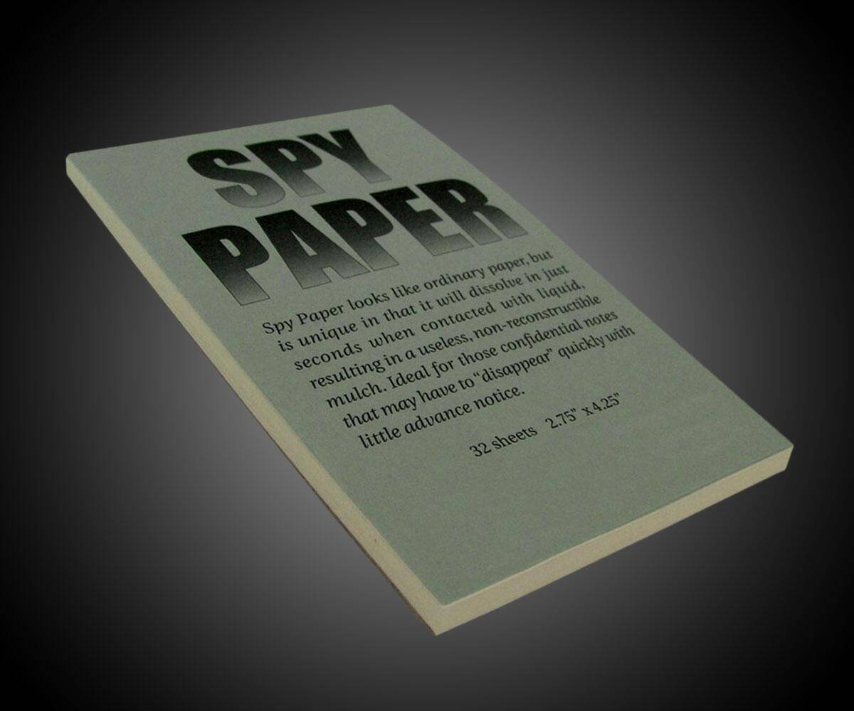 Self-Destructing Spy Paper - http://coolthings.us