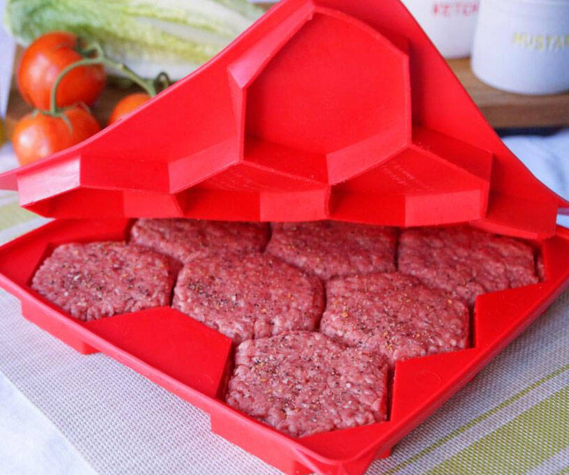 8-in-1 Burger Patty Press - http://coolthings.us