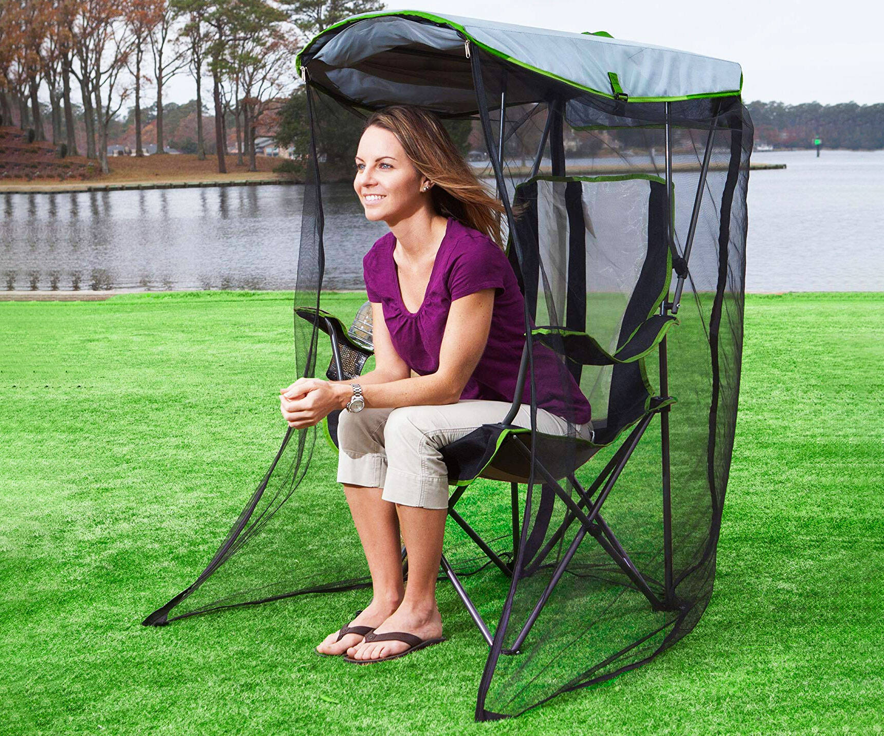 Mosquito Netting Canopy Chair