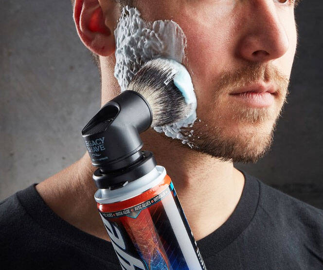 Shaving Cream Can Brush Adapter