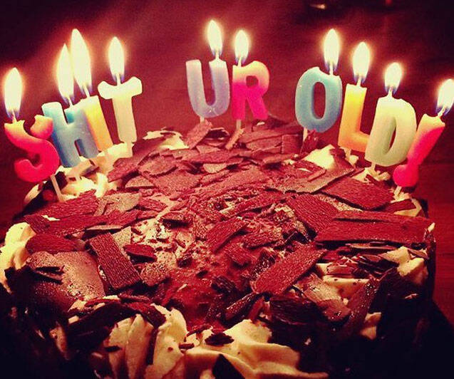 Shit You're Old Birthday Candles - http://coolthings.us
