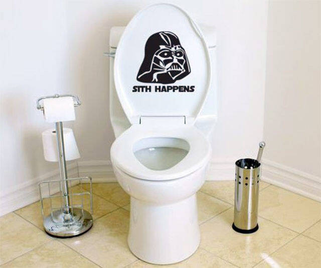 Sith Happens Darth Vader Toilet Decal - http://coolthings.us