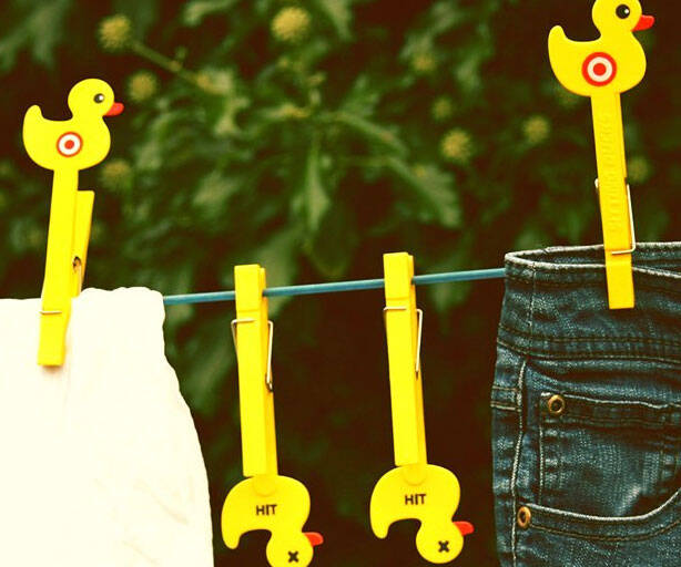 Duck Target Clothes Pegs - http://coolthings.us