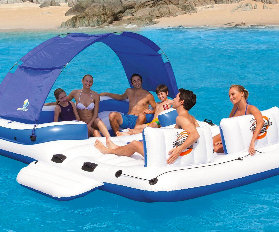 Six Person Floating Island - http://coolthings.us