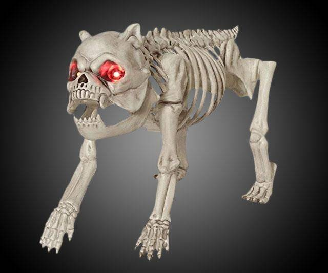 Skeleton Dog with LED Eyes - http://coolthings.us