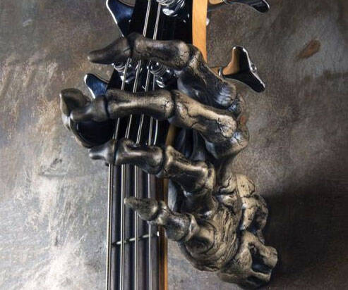 Skeleton Hand Wall Mounted Guitar Grip - http://coolthings.us