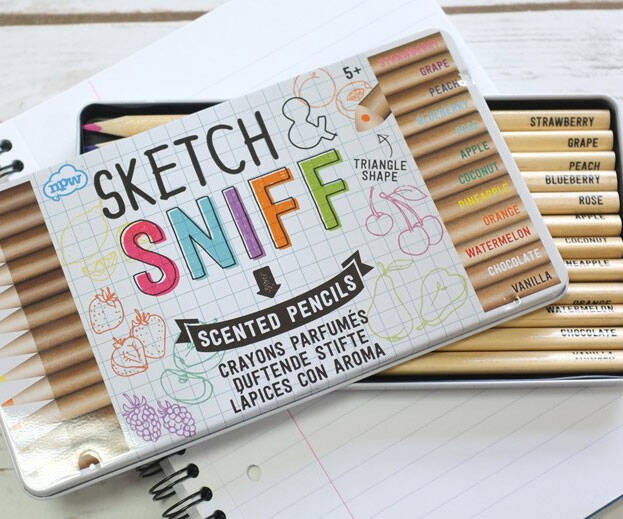 Scratch And Sniff Coloring Pencils - http://coolthings.us