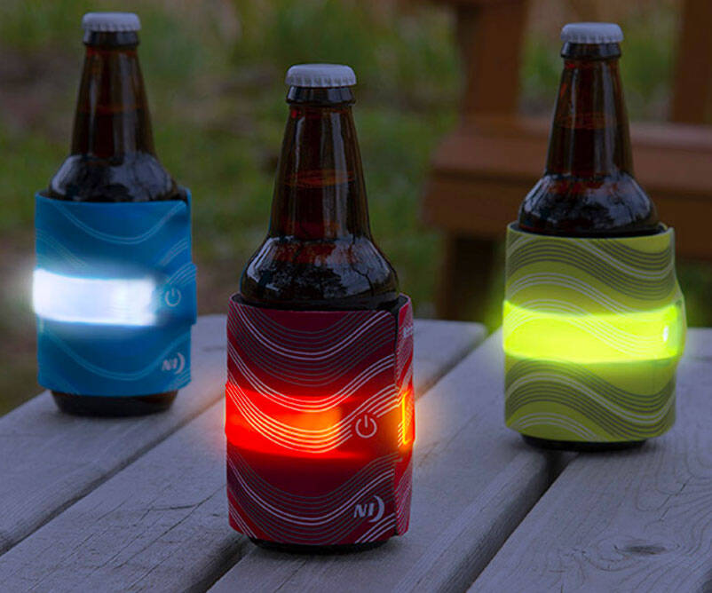 Slap It LED Drink Insulators - http://coolthings.us