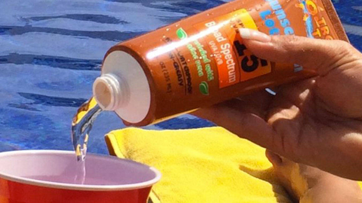Smuggle Your Booze Sunscreen Flask - http://coolthings.us