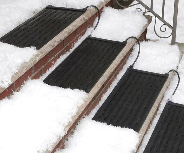 Snow-Melting Stair Mat - http://coolthings.us