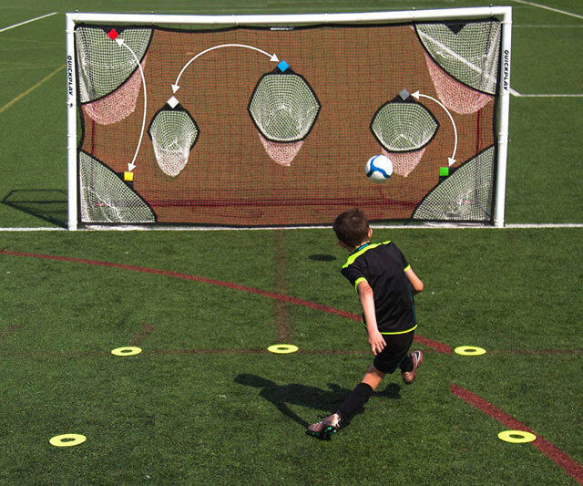 Soccer Goal Scoring Zones Practice Nets - http://coolthings.us