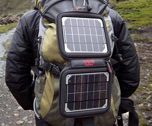 Solar Powered Backpack Charger - http://coolthings.us
