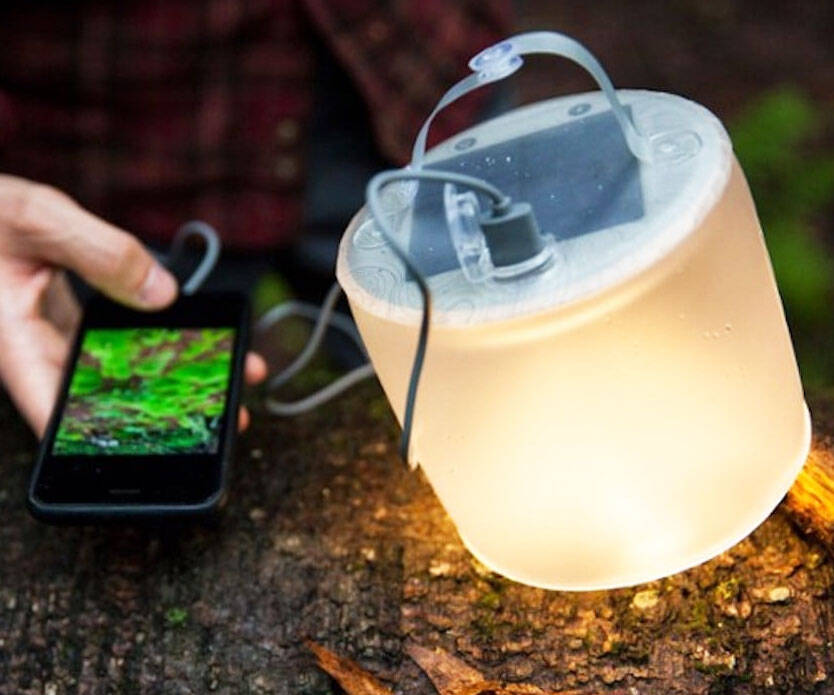 Inflatable Solar Lantern & Charger - http://coolthings.us