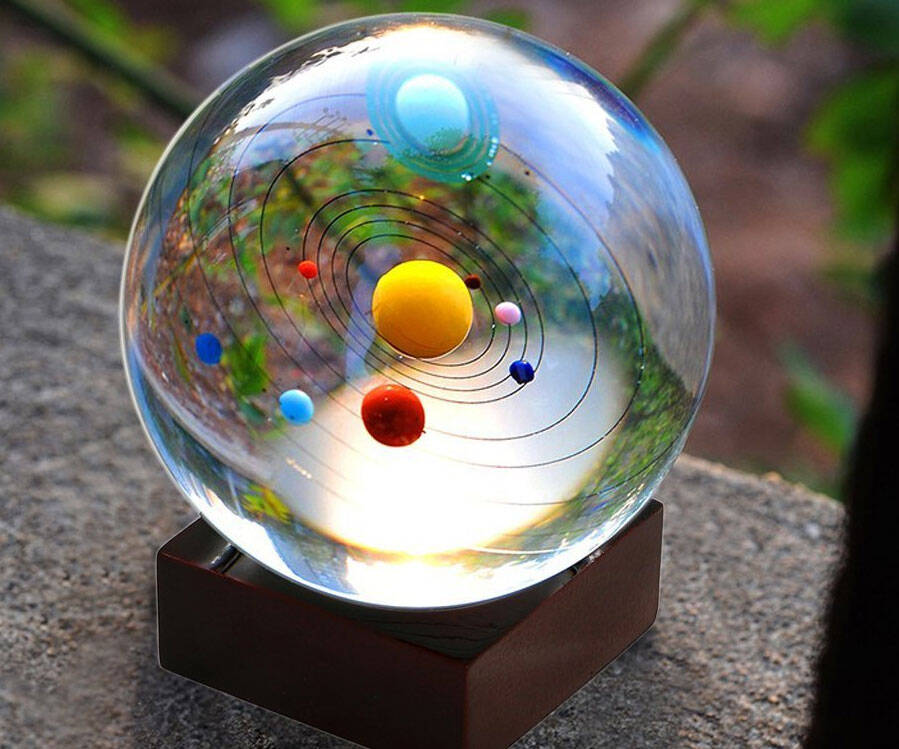 Solar System Crystal Ball - http://coolthings.us