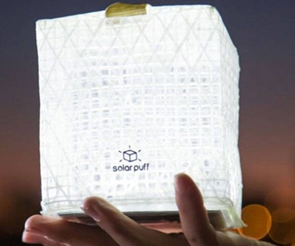 SolarPuff Portable LED Solar Lantern - http://coolthings.us