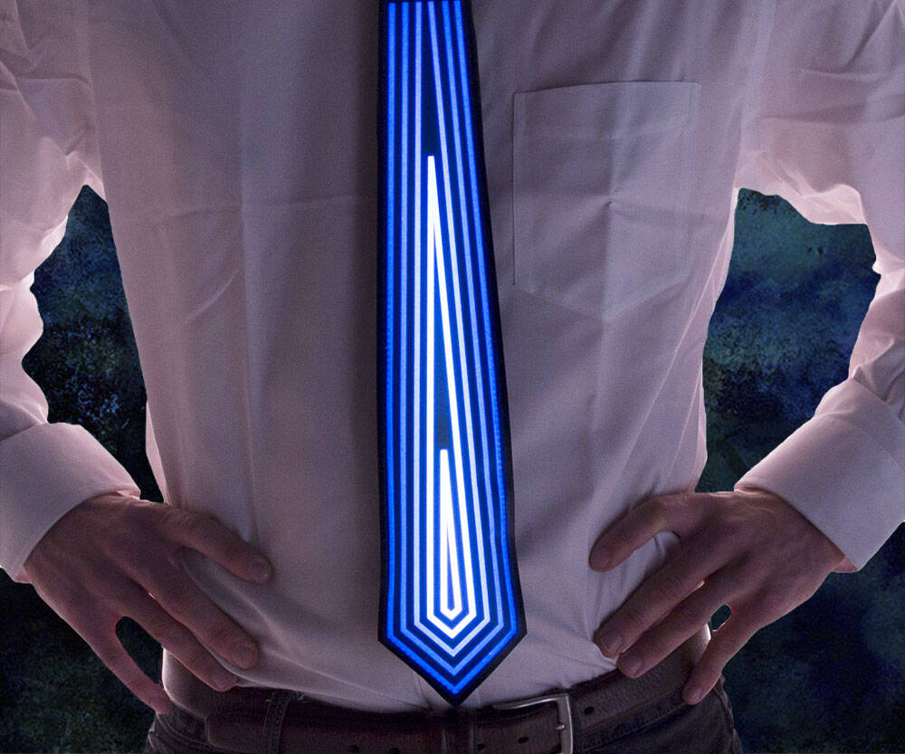 Sound Activated Light Up Tie - http://coolthings.us