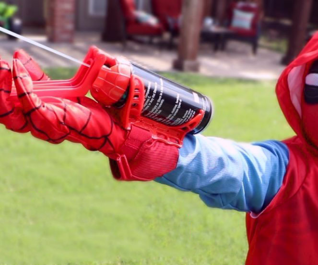 Spider-Man Silly String Web Shooter - http://coolthings.us
