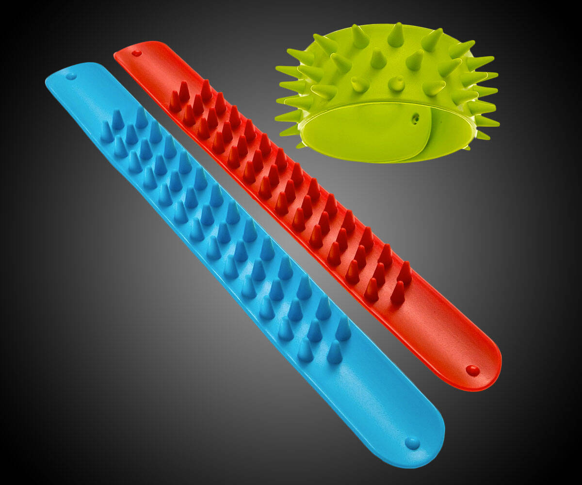 Spiky Slap Bracelet Sensory Toys - http://coolthings.us