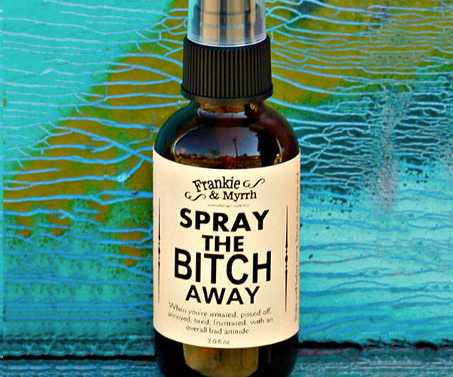 Spray the Bi*ch Away Aromatherapy Perfume - http://coolthings.us