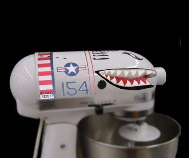 Standing Mixer Shark Plane Decals - http://coolthings.us