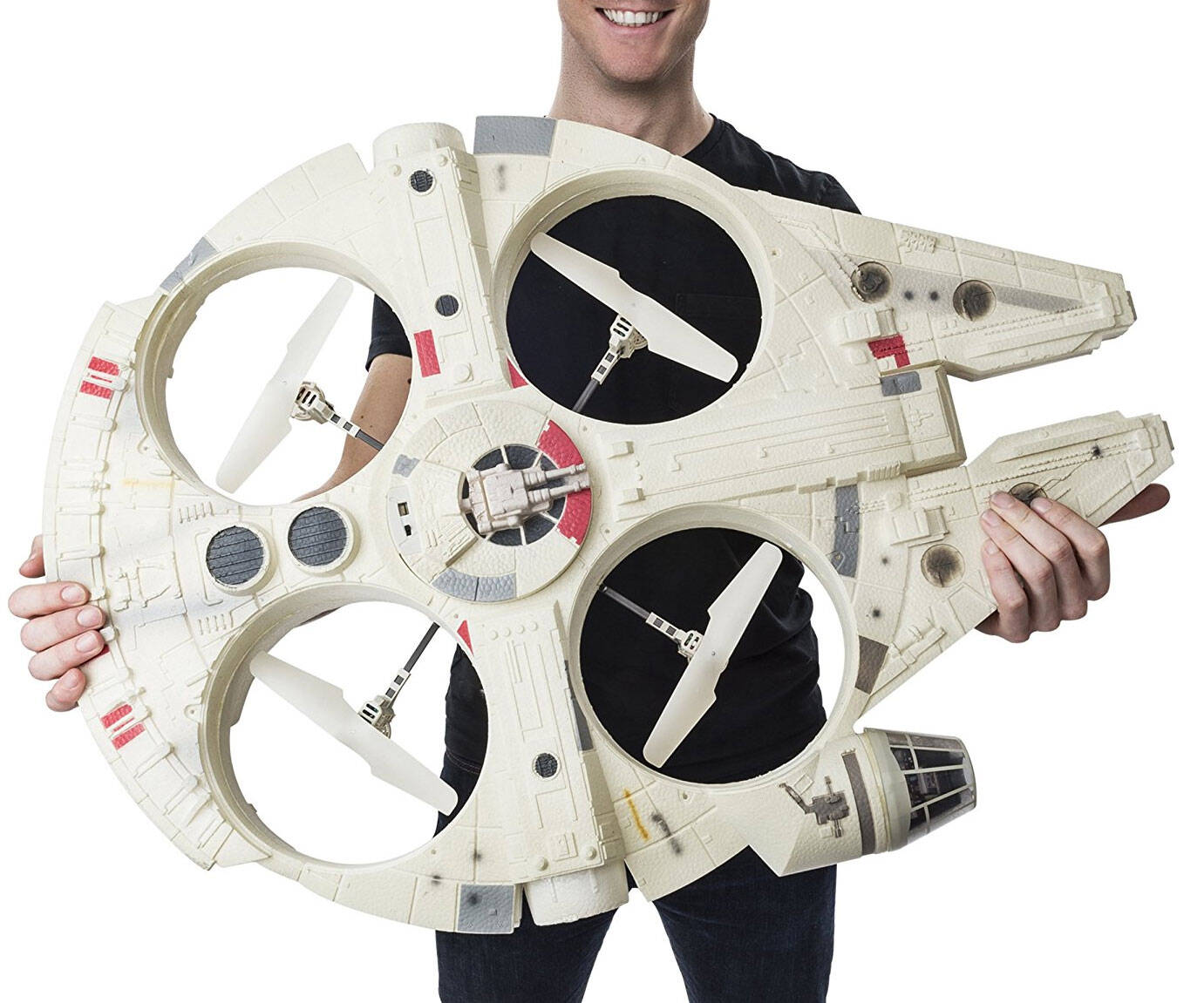Giant Flying Millennium Falcon Drone - http://coolthings.us