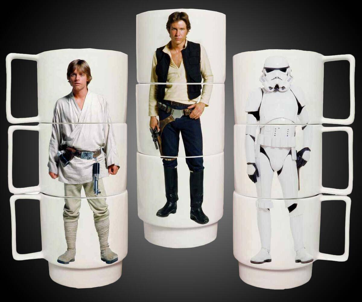 Star Wars Stacking Mugs - http://coolthings.us