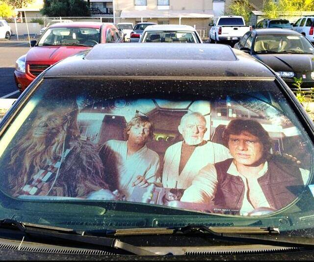 Star Wars Sunshade - http://coolthings.us