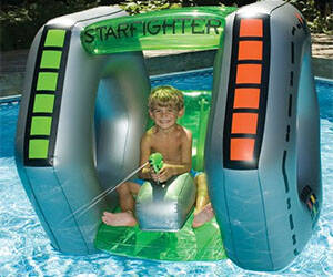 Spaceship Inflatable Pool Toy - http://coolthings.us