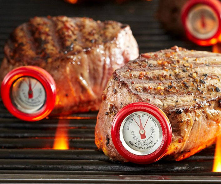 Steak Button Thermometer Set