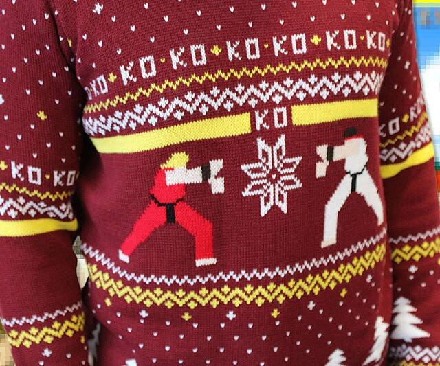 Street Fighter Ugly Christmas Sweater - http://coolthings.us