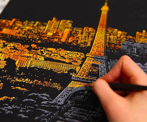 Stress Relieving Scratch-Off City Posters - http://coolthings.us