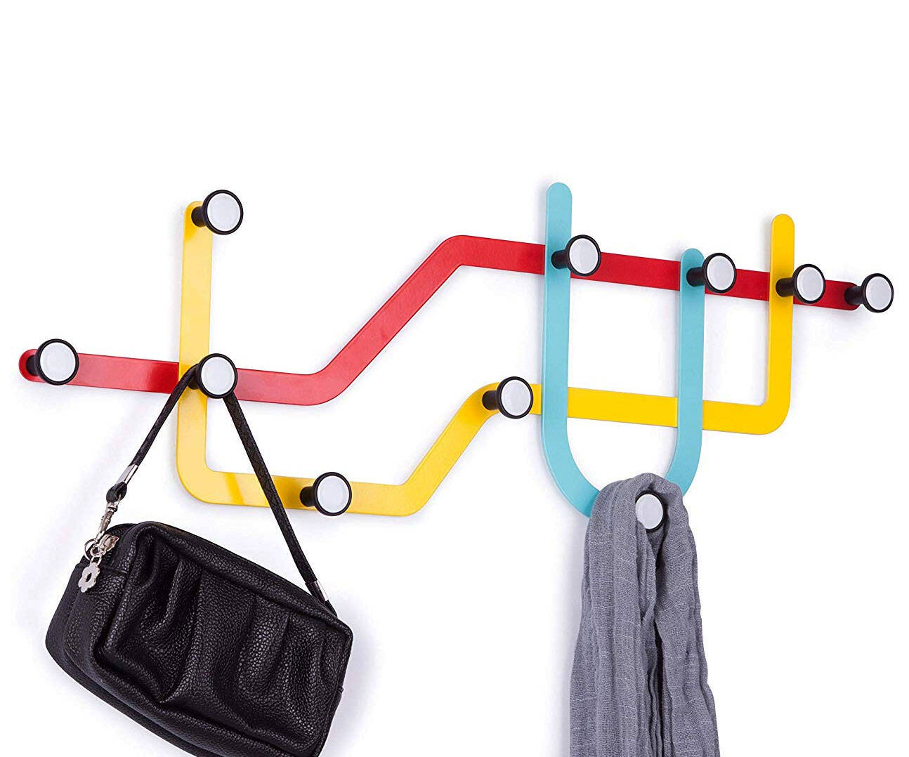 Subway Wall Coat Hooks - http://coolthings.us