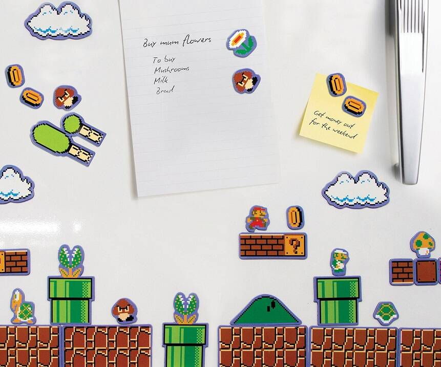 Super Mario Bros. Magnet Set - http://coolthings.us