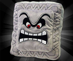 Super Mario Bros Thwomp Pillow - http://coolthings.us