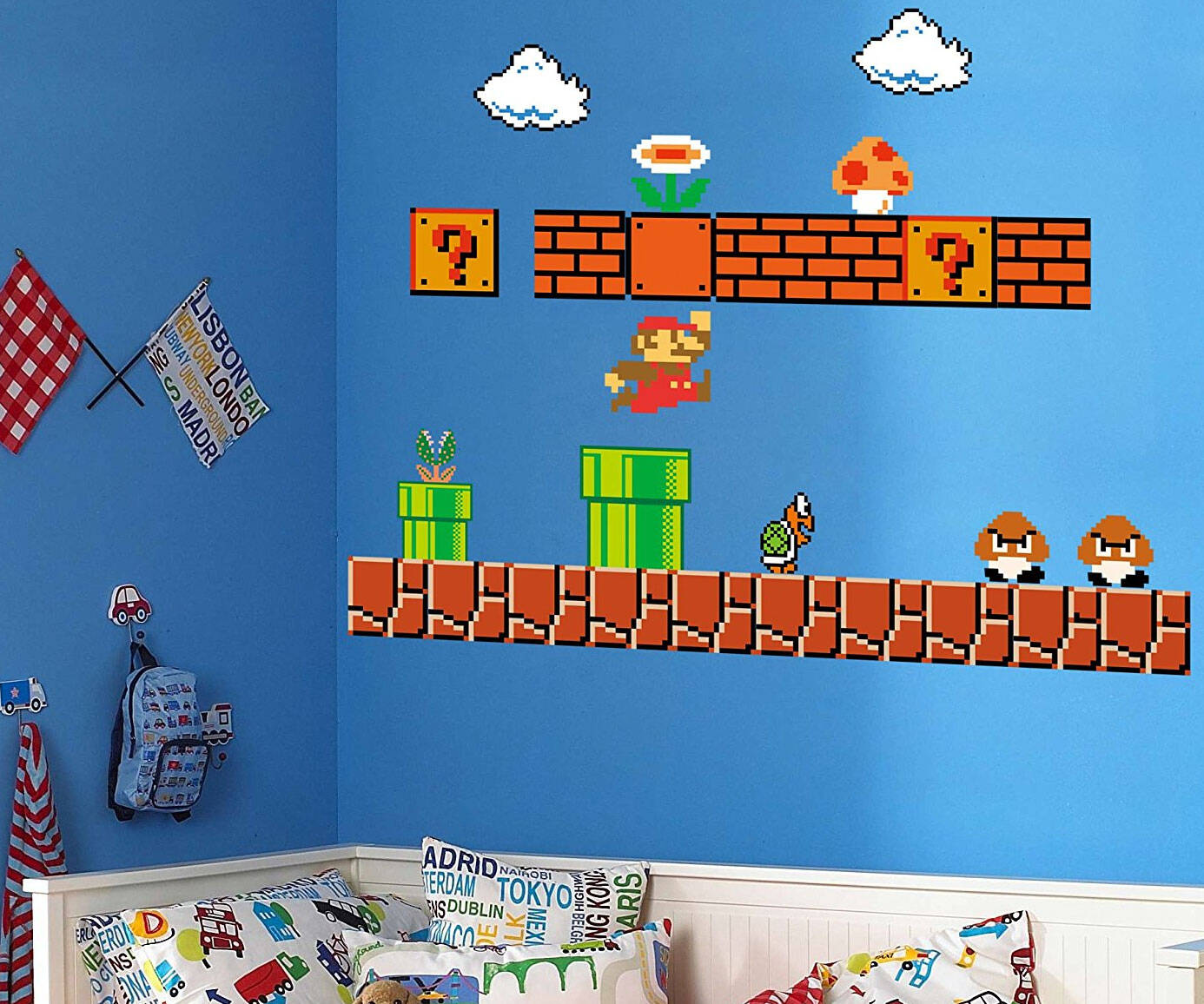 Super Mario Bros. Wall Decals - http://coolthings.us