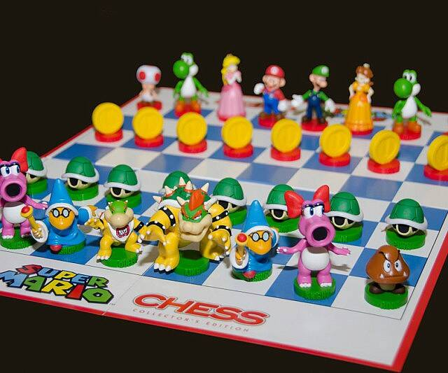Super Mario Bros Chess Board - http://coolthings.us