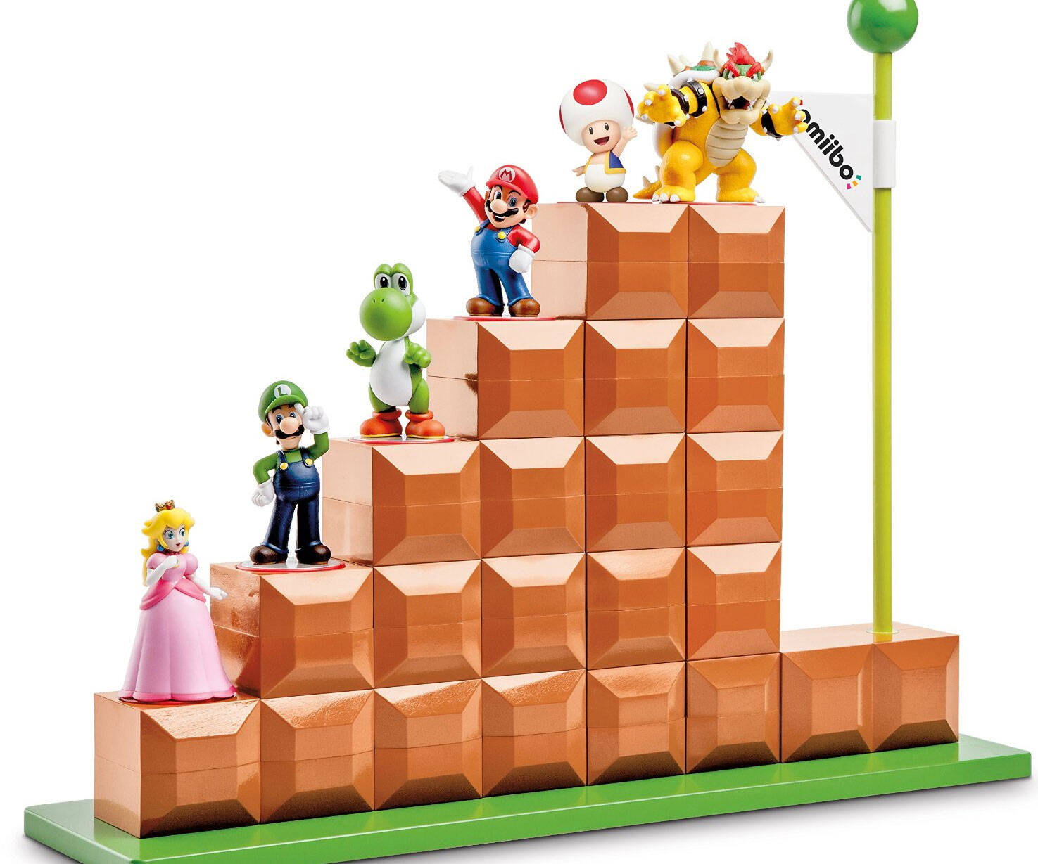 Super Mario Amiibo Display Stand - http://coolthings.us