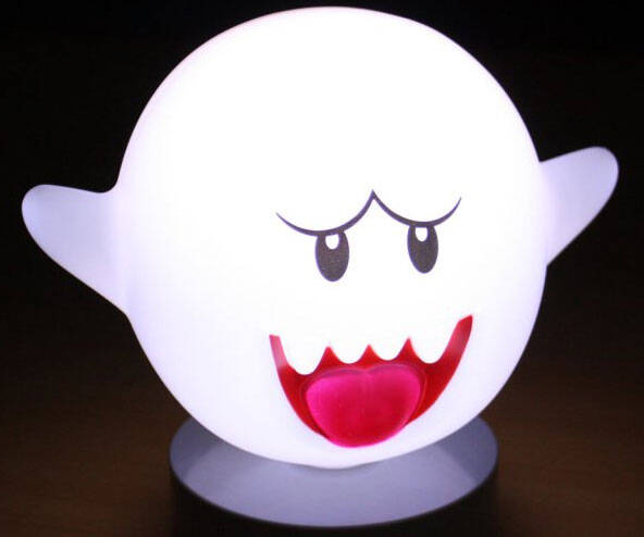 Super Mario Motion Sensor Boo Lamp - http://coolthings.us