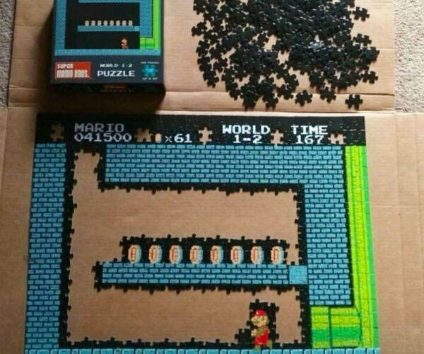 Super Mario Bros. World 1-2 Puzzle - http://coolthings.us