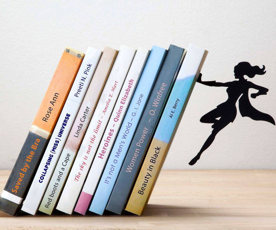 Supergal Bookend - http://coolthings.us