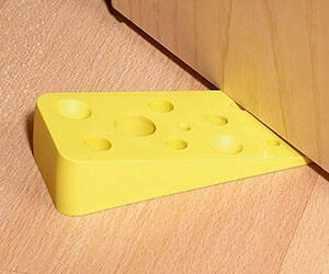 Swiss Cheese Door Stopper - http://coolthings.us