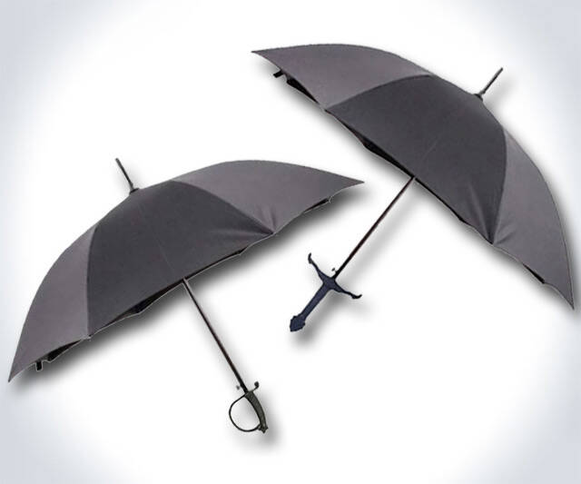 Sword Handle Umbrellas - http://coolthings.us