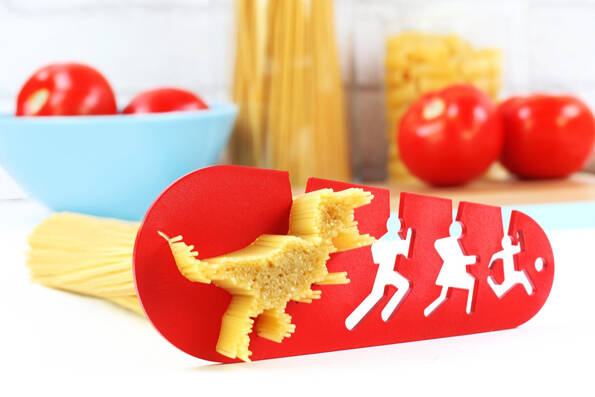 T-Rex Pasta Measuring Tool - http://coolthings.us