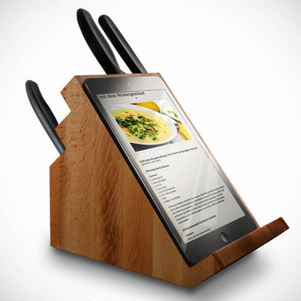 iPad Knife Block - http://coolthings.us