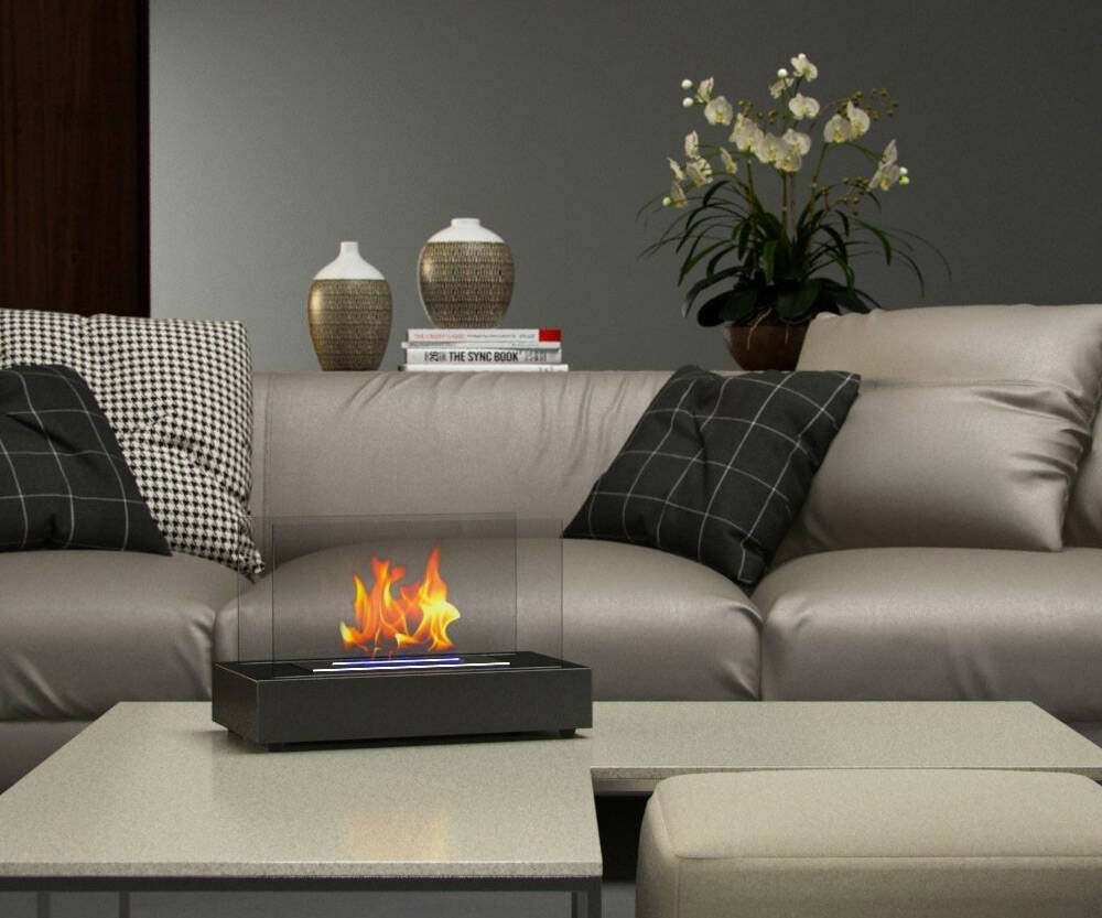 Tabletop Fireplace - http://coolthings.us