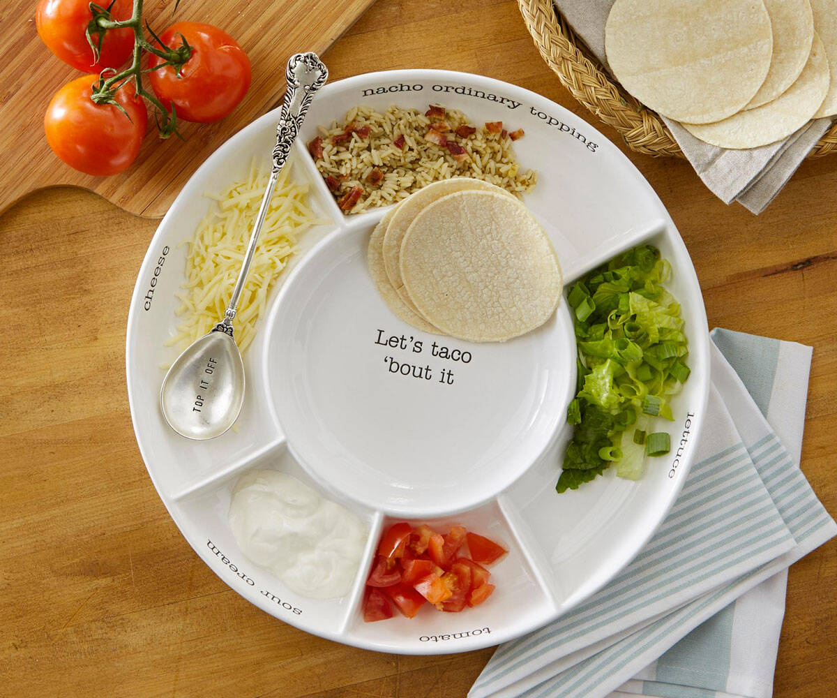 Taco Bar Serving Platter - http://coolthings.us