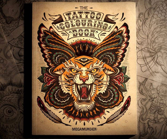 Tattoo Coloring Book - http://coolthings.us
