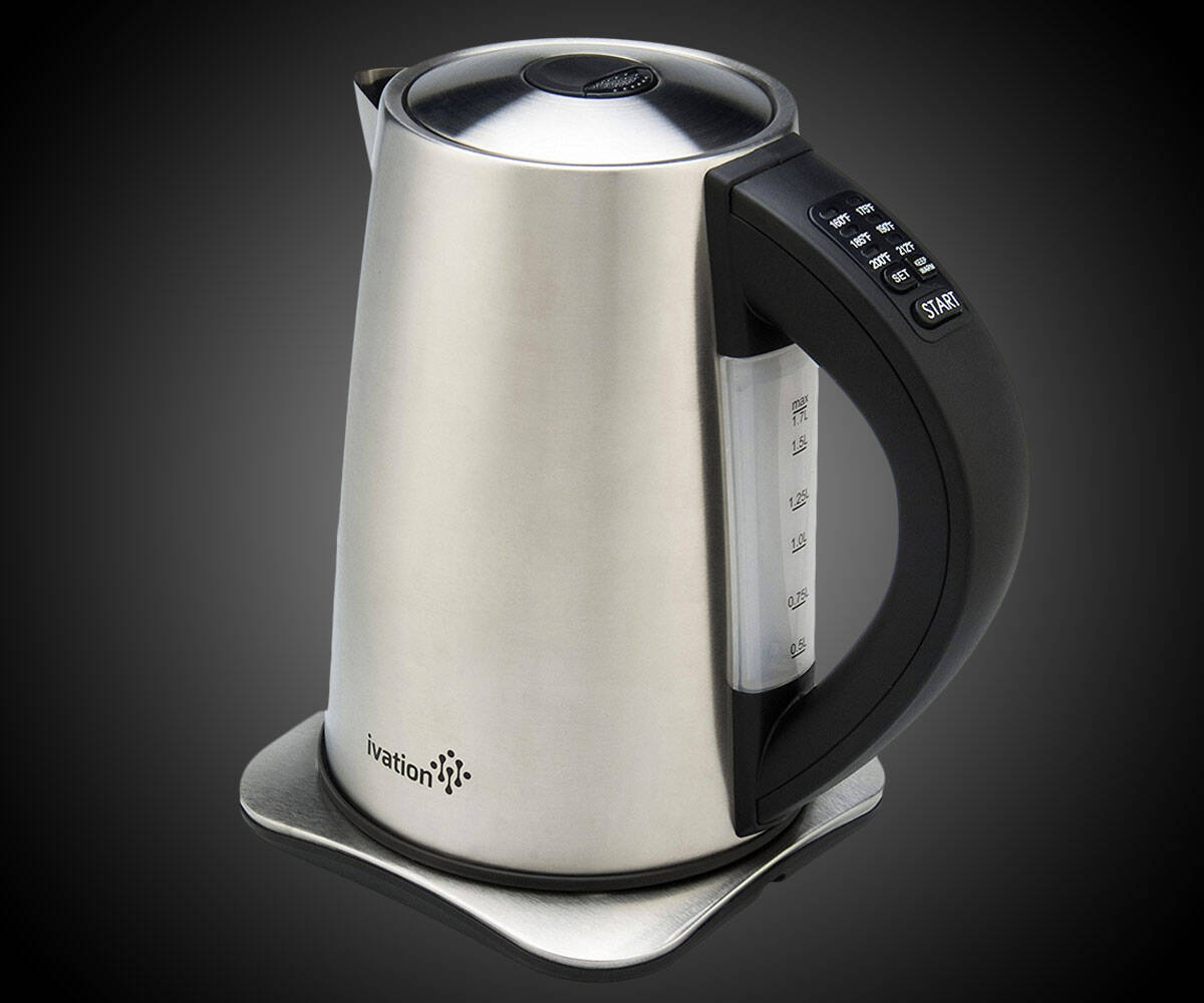 Temperature-Controlled Electric Kettle - http://coolthings.us