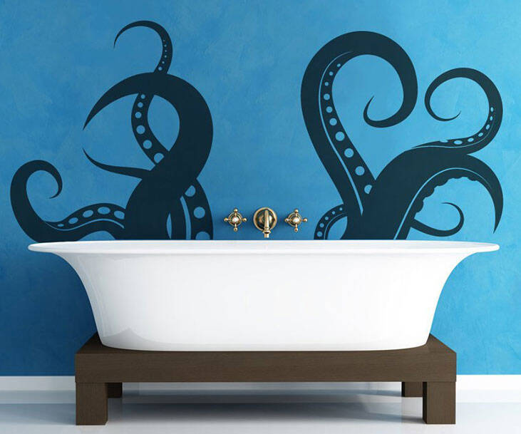 Tentacle Wall Decal - http://coolthings.us